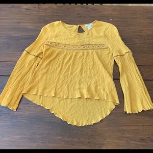 Yellow peasant blouse